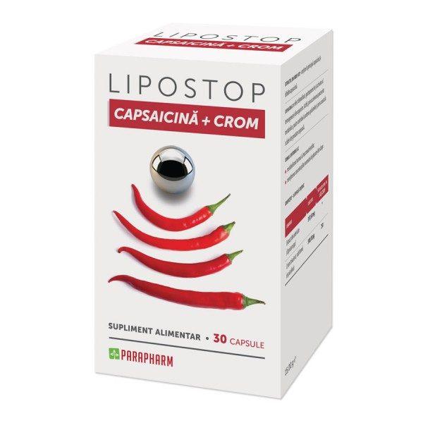 Lipostop Capsaicina Crom - ajută la scăderea greutății corporale