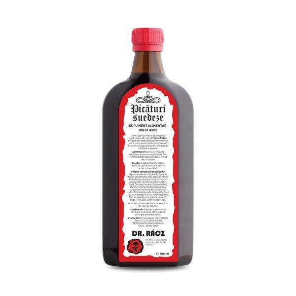 Picături Suedeze 500 ml - produs natural utilizat ca tonic general