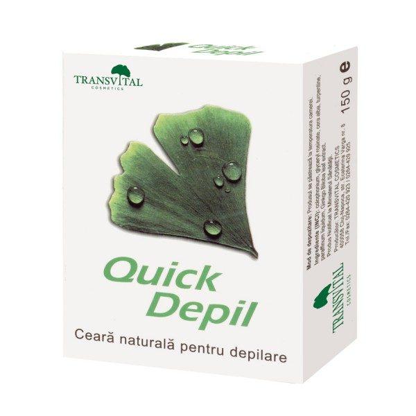 Quick Depil - Ceară naturală depilatoare, conține exclusiv ceruri vegetale