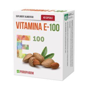 Vitamina E 100 • antioxidant puternic • imunostimulator • cardioprotector