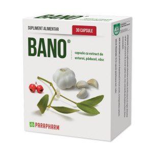 Bano - capsule cu extract de usturoi, paducel si vasc