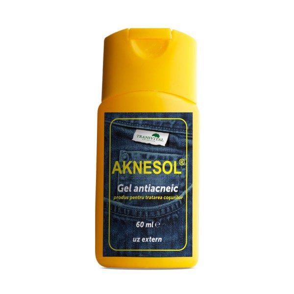 Aknesol gel antiacneic scade tendința formării coșurilor și infectarea lor