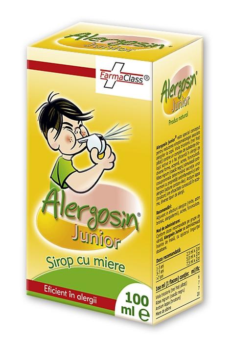 Alergosin junior sirop - pentru reducerea simptomelor asociate alergiilor