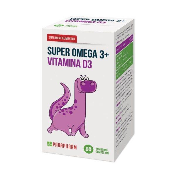 Super Omega 3+Vitamina D3 nutrienți esențiali in dezvoltarea organismului