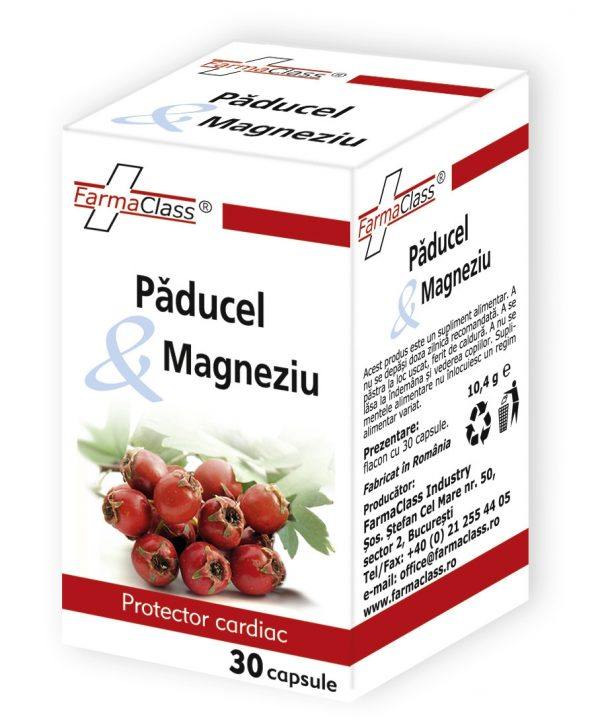 Păducel si Magneziu - hipertensiune arterială; tulburări de ritm cardiac