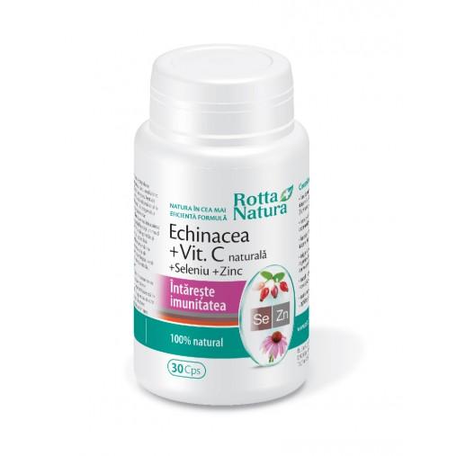 ECHINACEA CU VITAMINA C NATURALA SELENIU SI ZINC - imunitate