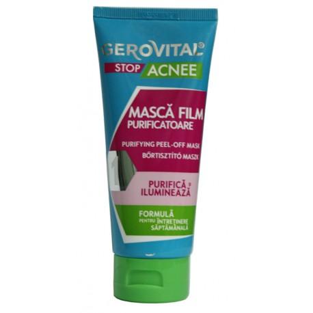 Masca Film Purificatoare GEROVITAL 100 ml ajuta la deblocarea porilor