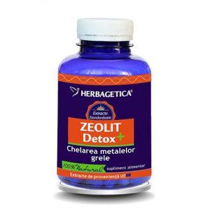 ZEOLIT DETOX 120 capsule absoarbe metalele grele şi toxinele