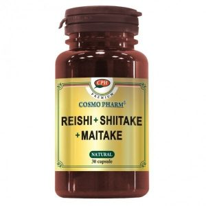 Reishi Shiitake Maitake 30 capsule - Sustinerea sistemului imunitar