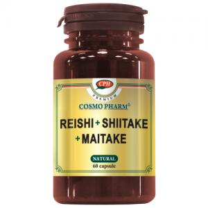 Reishi Shiitake Maitake 60 capsule - sustine sistemul imunitar