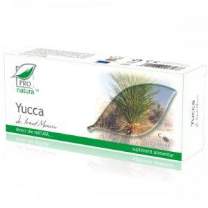 Yucca 30 capsule Medica ProNatura - detoxifiant al organismului