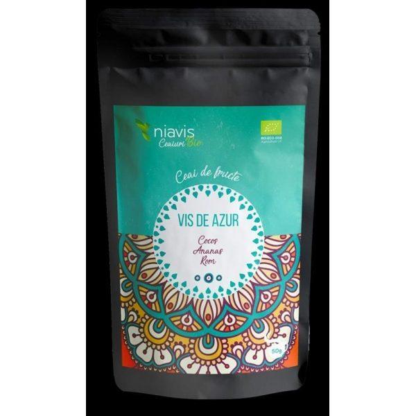 Ceai Vis de Azur Ecologic Bio 50g NIAVIS - aroma de: cocos, ananas rom