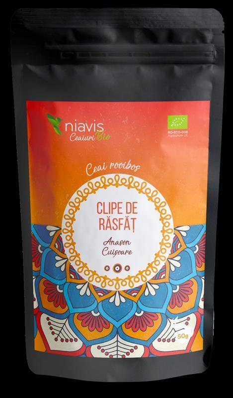 Ceai Clipe de Rasfat Ecologic Bio 50g NIAVIS - aroma de anason