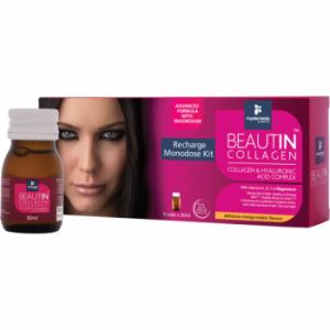 Beautin Colagen Lichid Kit 5 Monodoze cu Mango Pepene Galben