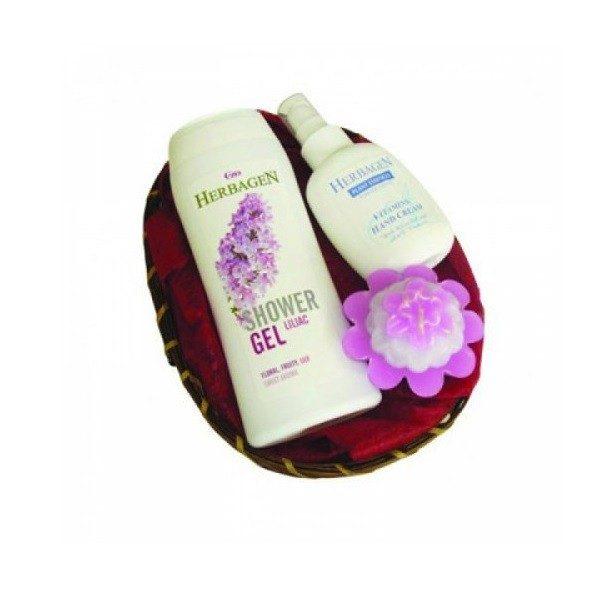 Cos Cadou Hand and Body Liliac Herbagen - pentru pielea uscata