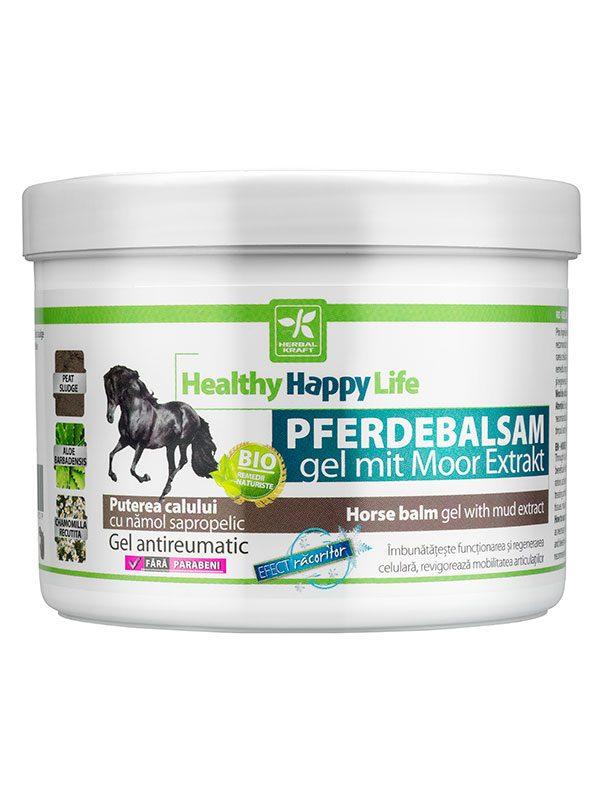 Gel antireumatic Puterea Calului cu namol sapropelic 500 ml - revigorant
