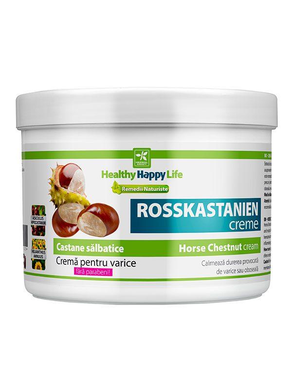 Crema pentru varice cu Castane Salbatice 500 ml - regenerarea pielii