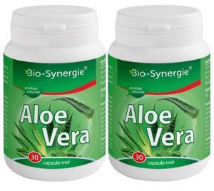Pachet Aloe Vera 30cps 1 cu1 Gratis BIO-SYNERGIE ACTIV - efect laxativ