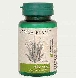 Aloe Vera 60Cpr DACIA PLANT - , protejarea celulelor hepatice