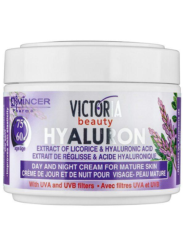 Crema de fata antirid hyaluron 60 75 ani 50 ml - are efect de hidratare