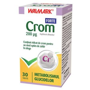 Crom Forte 30 tablete Walmark - metabolizarea optima a insulinei,