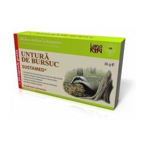 Untura de bursuc 100 si 20 cps gratis Sustamed - proprietatile bactericide,
