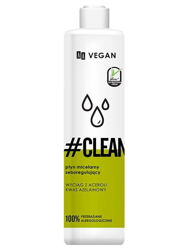 Apa Micelara Reglare Sebum AA Vegan Clean 250 ml - revigorează pielea
