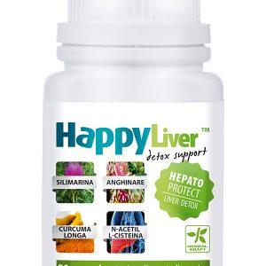 Detoxifierea Ficatului HappyLiver 30 cpr - funcţionarea normala a ficatului.