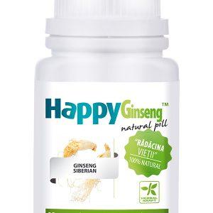 Energie si Vitalitate HappyGinseng 40 cpr - întărește sistemul imunitar,