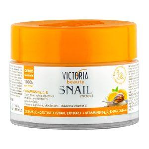 Crema de zi cu Extract de Melc si Vitamine B5 C E 50 ml - hidratanta