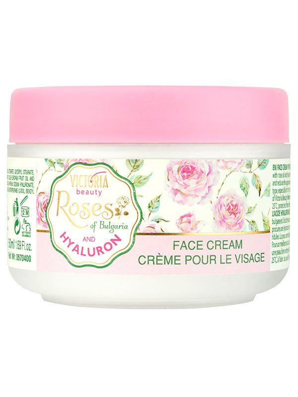 Crema de zi cu Ulei de Trandafiri si Acid Hialuronic 50 ml - efect anti-age