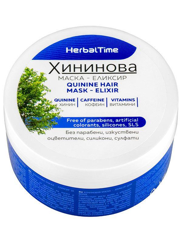 Masca cu Chinina Elixir Par Herbal Time 200 ml - refacerea părului.