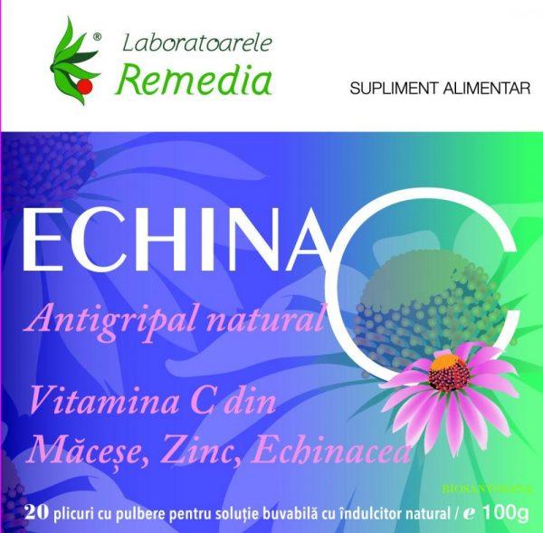 Echina C 20 plicuri - reduce durata simptomelor infecţiilor respiratorii