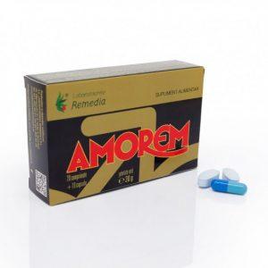 Amorem 20 comprimate cu 10 capsule Remedia - performanța sexuală.
