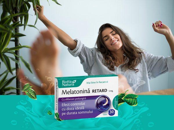 Melatonină Retard 5 mg. Somn natural și odihnitor întreaga noapte